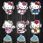 Hello Kitty Assorted Cupcake Toppers Digital Printable Instant Download