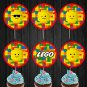 Lego Faces Cupcake Toppers Expressions Digital Printable Instant Download