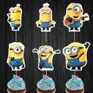 Minions Cupcake Toppers Digital Printable Instant Download