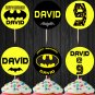 Personalized Batman Superhero Cupcake Toppers Printable Digital