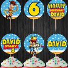 Personalized Toy Story Cupcake Toppers Printable Digital