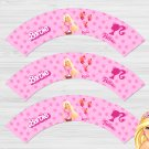 Barbie Princess Cupcake Wrappers Printable Digital Instant Download