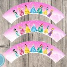 Disney Princesses Cupcake Wrappers Printable Digital Instant Download Princess