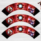 Iron Man Avengers Cupcake Wrappers Printable Digital Instant Download
