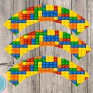 Lego Cupcake Wrappers Printable Digital Instant Download