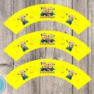 Minions Despicable Me Cupcake Wrappers Printable Digital Instant Download