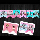 Personalized LOL Surprise Dolls Banners Printable Digital Custom Garland Bunting Bungings Garlands
