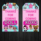 LOL Surprise Dolls Favor Tags Box Printable Digital Instant Download