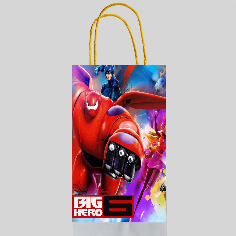 Big Hero 6 Favor Loot Paper Bag Template Printable Digital Instant Download