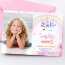 Unicorn Princess Invitation Design 2 with Photo Printable Digital