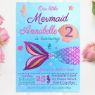Mermaid Princess Design 1 Invitation Digital Printable Invites