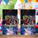 Avengers Superhero Favor Paper Bag Template Printable Digital Instant Download