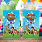 Paw Patrol Dogs Favor Loot Paper Bag Template Printable Digital Instant Download