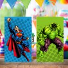 Superheroes 6 Designs Favor Loot Paper Bag Template Printable Digital Instant Download Superhero