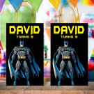 Personalized Batman Superhero Favor Loot Paper Bag Template Printable Digital Custom