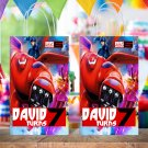 Personalized Big Hero 6 Superhero Favor Loot Paper Bag Template Printable Digital Custom