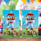 Personalized Paw Patrol Favor Loot Paper Bag Template Printable Digital Custom Dogs