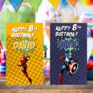 Personalized Superhero  6 Designs Comic Favor Loot Paper Bag Template Printable Digital Custsom