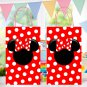 Minnie Mouse Disney Favor Loot Paper Bag Template Printable Digital Instant Download