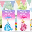 Personalized Disney Princess 6 Designs Favor Loot Paper Bag Template Printable Digital Custom