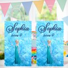 Personalized Disney Frozen Elsa Favor Loot Paper Loot Bag Template Printable Digital Custom