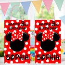 Personalized Minnie Mouse Design 1 Favor Loot Paper Bag Template Printable Digital Disney