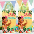 Personalized Baby Moana Favor Loot Paper Bag Template Printable Digital Custom