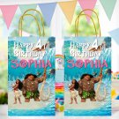 Personalized Moana and Maui Favor Loot Paper Bag Printable Digital Custom