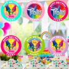 Personalized Trolls Cupcake Toppers Digital Printable