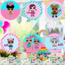 LOL Surprise Assorted Cupcake Toppers Digital Printable Dolls Instant Download