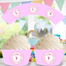 Ballerina Princess Cupcake Wrappers Printable Digital Instant Download