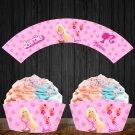 Barbie Princess Cupcake Wrappers Printable Digital Instant Download