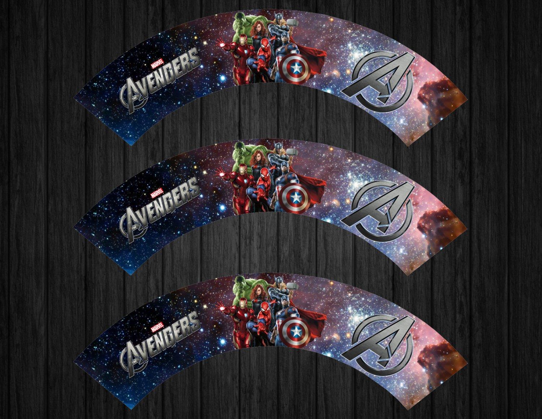 Avengers Cupcake Wrappers Instant Download Marvel Avenger Spiderman Iron Man Captain America