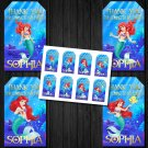 Personalized Ariel Disney Princess Favor Tags loot box mermaid birthday