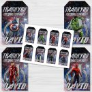 Personalized Avengers Design 1 Favor Tags loot box avenger superhero superheroes birthday