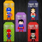 Superhero Design 1 Favor Tags Instant Download Printable Digital superheroes loot box birthday