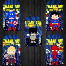 Superhero Design 2 Favor Tags Instant Download Printable Digital superheroes loot box birthday