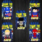 Personalized Superhero Design 2 Favor Tags loot box avenger superhero superheroes birthday