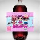 Personalized LOL Surprise 2 Liter Soda Bottle Label Digital Printable wrapper labels liters