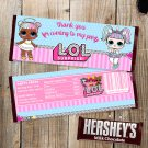 LOL Surprise Dolls Chocolate Wrappers Instant Download Digital Printable Hershey's Bars