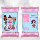 LOL Surprise Dolls Chip Bag Wrapper Instant Download Digital Printable chips birthday doll