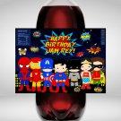 Personalized Superhero Design 1 2 Liter Bottle Label Wrapper Digital Instant Download Printable