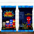 Superhero Comic D1 Chip Bag Wrapper Instant Download Digital Printable chips birthday