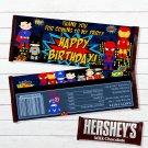 Superhero Comic Instant Download Chocolate Wrappers Digital Printable Hershey's Bars Custom