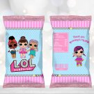 Instant Download Chip Bag Wrapper Cute Dolls Birthday Party Printable Digital doll wrappers