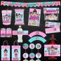 Instant Download Chocolate Label Wrapper Cute Dolls Birthday Party Printable Digital doll labels