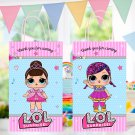 Instant Download Favor Paper Bag Cute Dolls Birthday Party Printable Digital doll bags favors