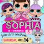 Personalized Invitation Cute Dolls Birthday Party Printable Digital doll custom invite doll