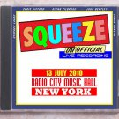 Squeeze Live 2010 New York Radio City Music Hall CD