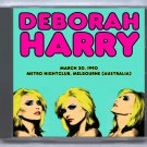 Blondie Debbie Harry Live 1990 Australia Metro Nightclub Melbourne FM CD